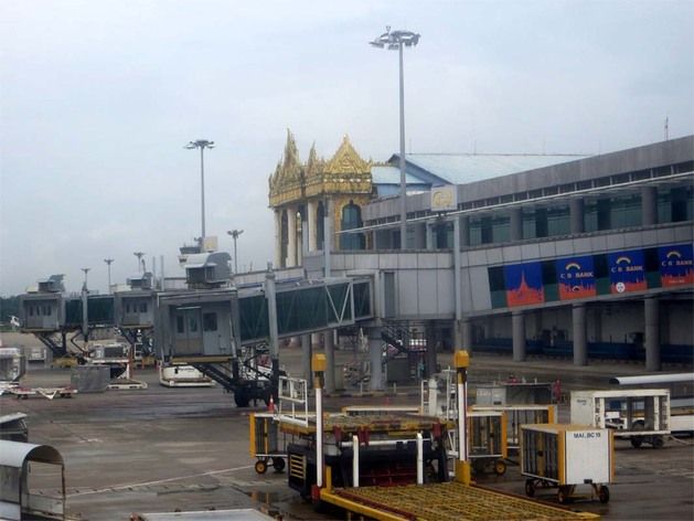 Yangon airport, welcome to Myanmar!
