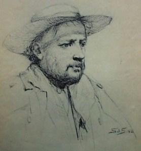 Bernard Walter Evans self portrait