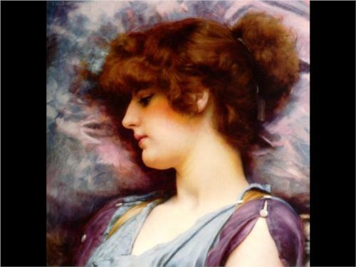 Thoughts Far Away, by John William Godward 1892
