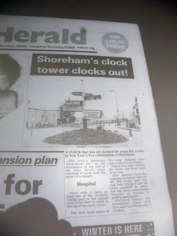 New year 1987, Herald headlines!!