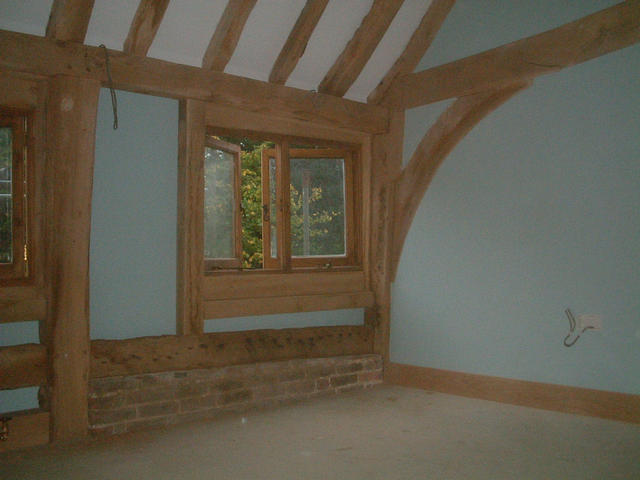 Upstairs, Hazza's bedroom 'window wall', 'Hobbit' stlye