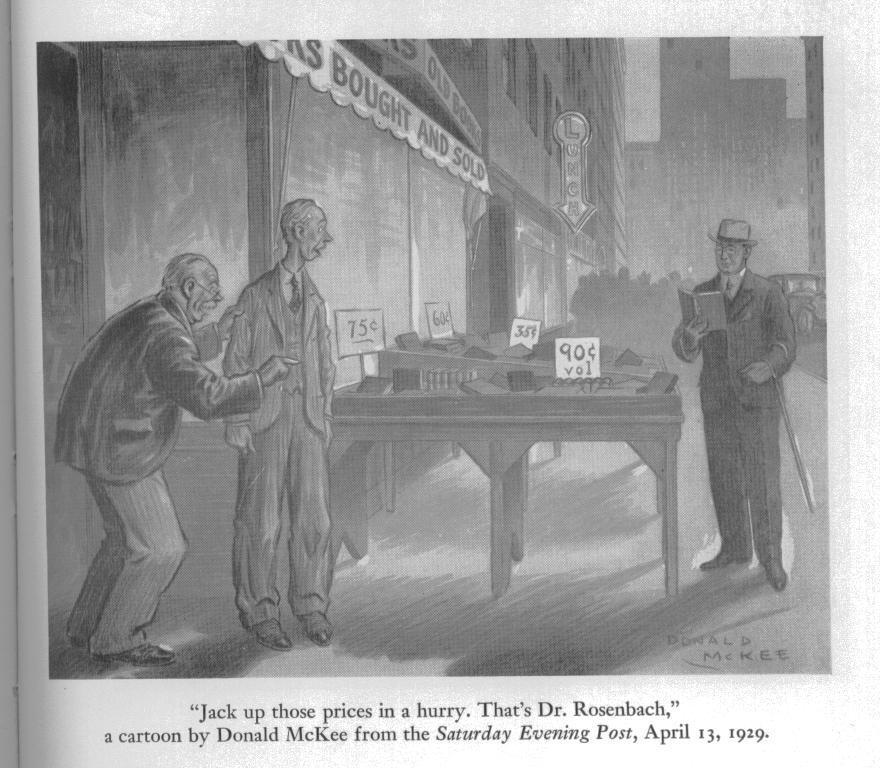 Cartoon of A.S.W.Rosenbach