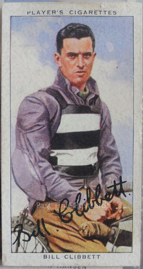 Bill Clibbett Players Cigarette Card