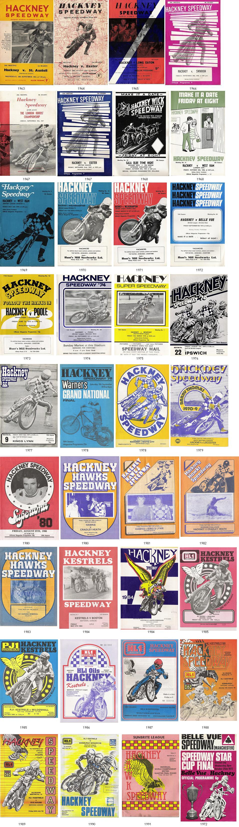 A Collection of Hackney Speedway Programmes