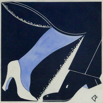 """PUT ON YOUR DANCING SHOES"" - An Original Gouache by CHARLES PAINE (1895-1967)"