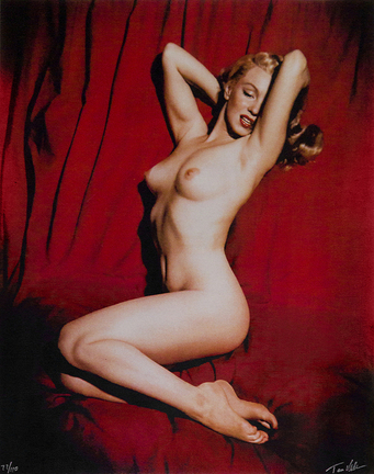 """MARILYN'S FIRST SHOOT FOR PLAYBOY"" - Taken from An Original Copy"