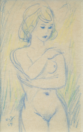 """NATURAL BEAUTY"" - An Original Crayon Drawing by MARCEL VERTES"