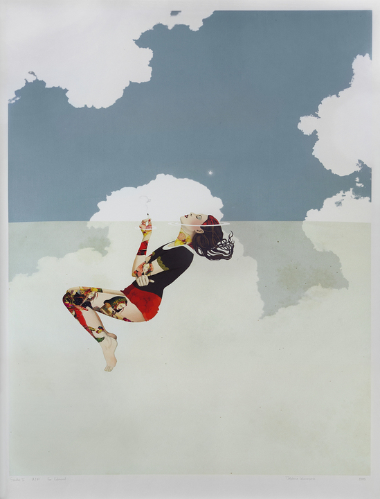 """SMOKE 1""  - A unique proof print, apart from the edition of 35, signed and INSCRIBED to me by DELPHINE LEBOURGEOIS"