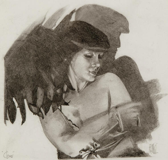 """""""My Kind of Girl"""" Original pencil drawing by MIKE FRANCIS. Sold."""