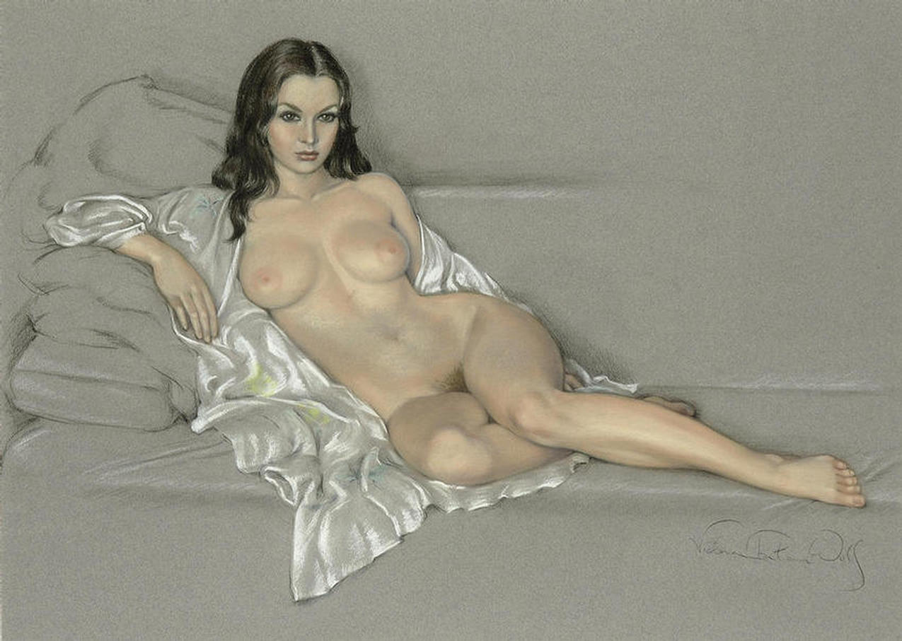 """MANET'S OLYMPIA                                  REIMAGINED"" - An Original Pastel by                                  VICTORIA FONTAINE-WOLF"