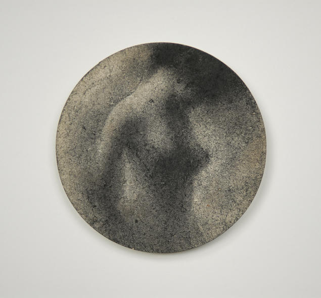 Hazy Paradise - A Charcoal Drawing on The Back of a Beer Mat by Raphael THIERRY