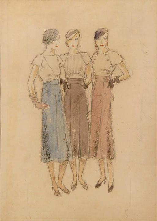 """Ernst Dryden - """"Three Viennese Good-Time Girls"""""""