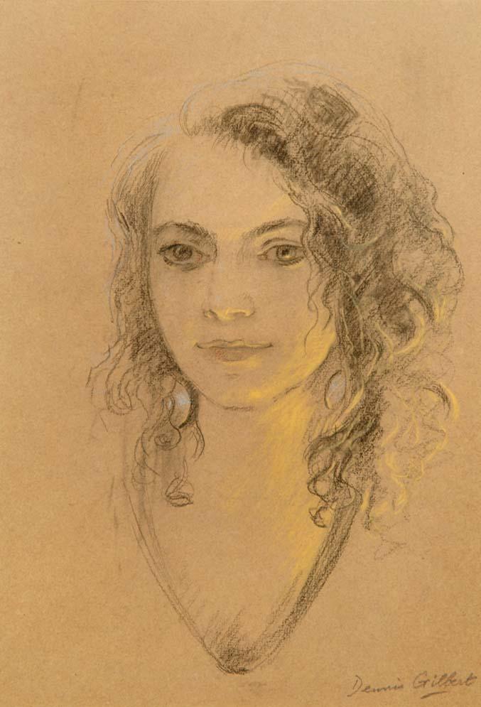 """Carla"" - original pastel by Dennis GILBERT"