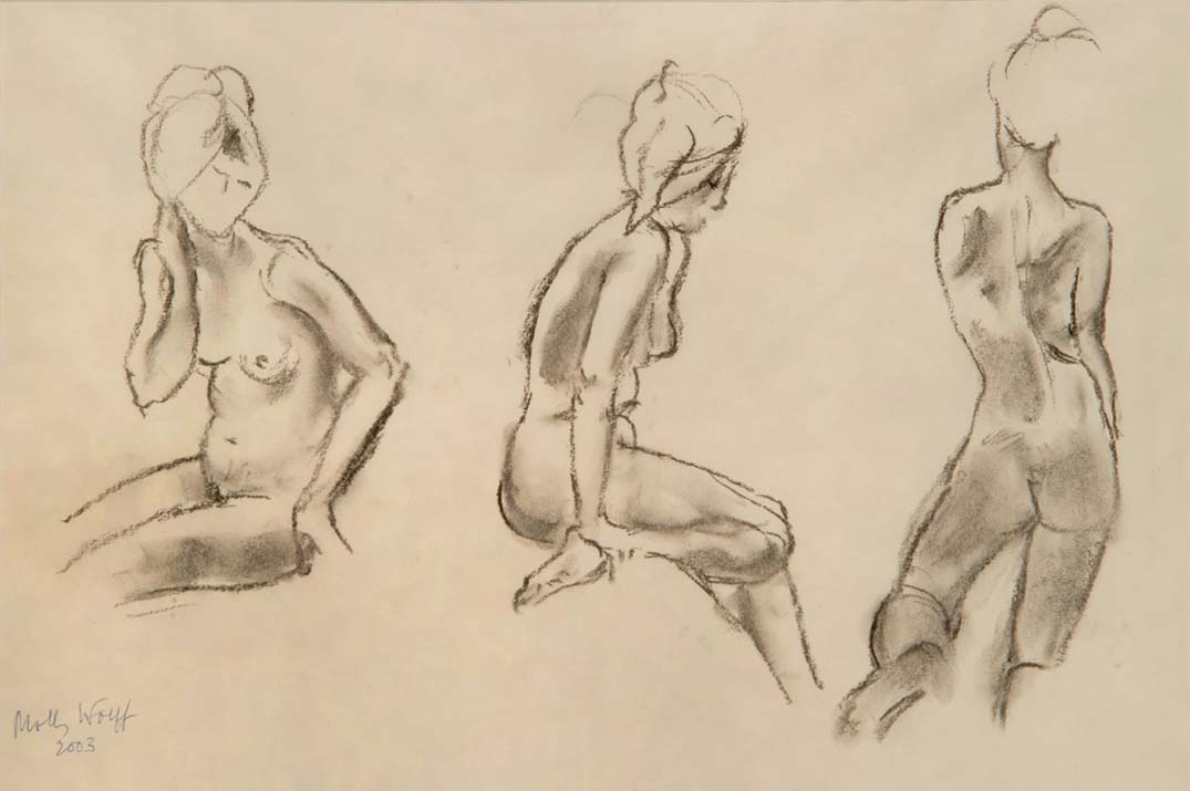"""""""Life Studies"""" - original charcoal drawing by Molly WOOLF"""