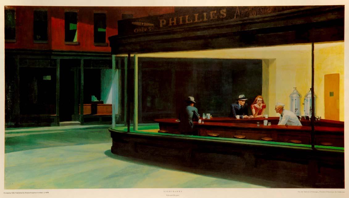 """""""Nighthawks"""" -  a print by Edward HOPPER"""