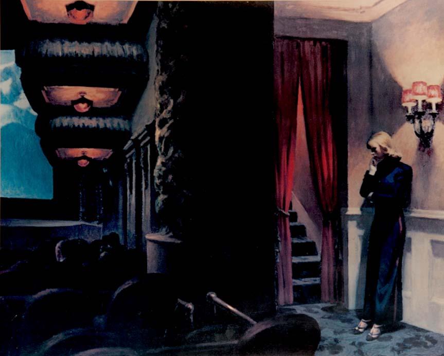 """Curtain Up"" - a print by Edward HOPPER"
