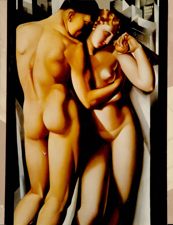"""""""Adam and Eve""""  - after the original by Tamara de LEMPICKA"""