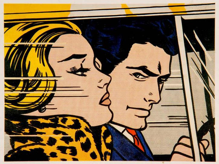 """""""In The Car"""" (Variant)  by Roy LICHTENSTEIN"""