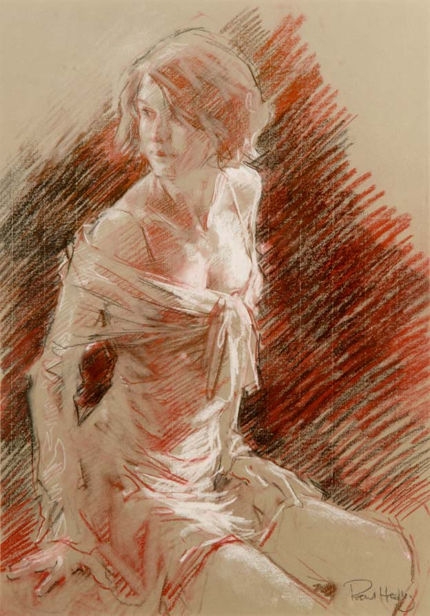 """Charlotte in Her Prime"" - Original pastel by PAUL HEDLEY"