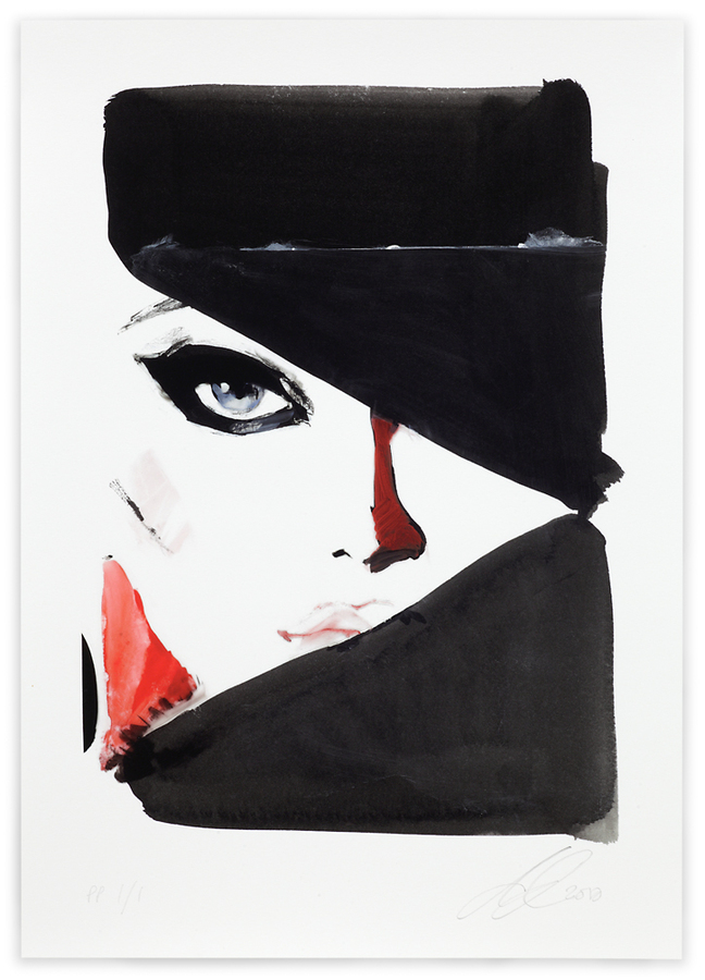 "DAVID DOWNTON ""CLASSIC FASHION"" - A Unique Giclee, numbered 1of 1, and SIGNED"