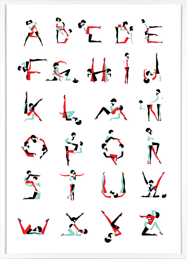 """CARNAL ALPHABET""  - An Original Screenprint Limited to 250 Signed Copies on Hahnemuhle  Paper by MALIKA FAVRE"