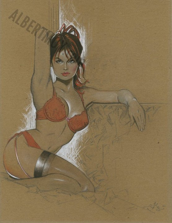 """REDHEAD PERFECTION"" - An Original Pencil and Colour Drawing by JIM SILKE"