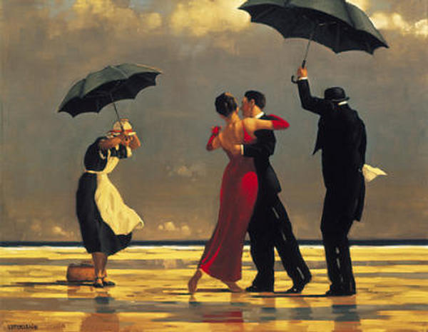 """THE SINGING BUTLER"" - An Original Acrylic after ""JACK VETTRIANO"""