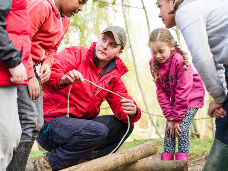 adult Leader teaching