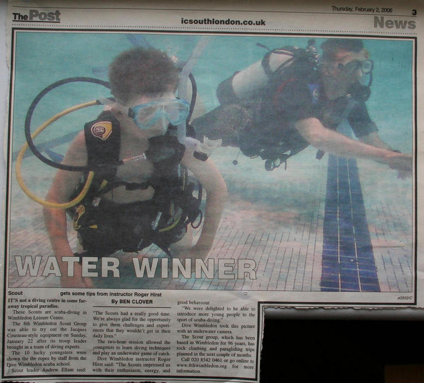 8th Wimbledon Scouts scuba diving
