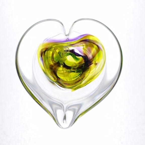 Amethyst/Citrus Heart Weight