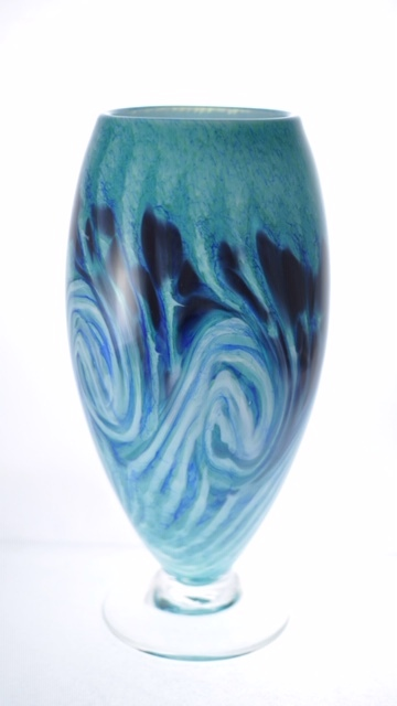 Deep Anemone Footed Cone Vase