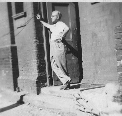 Israel (Jim) Zimbler at his factory in Markhouse Road