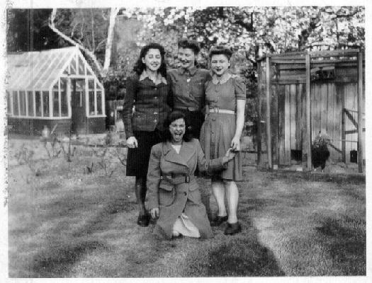 Rita, Judy, Jill and Olga Zimbler as teens