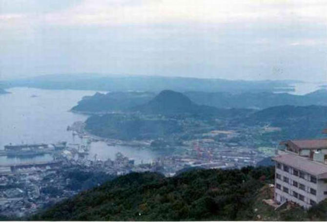 Looking down on Sasebo
