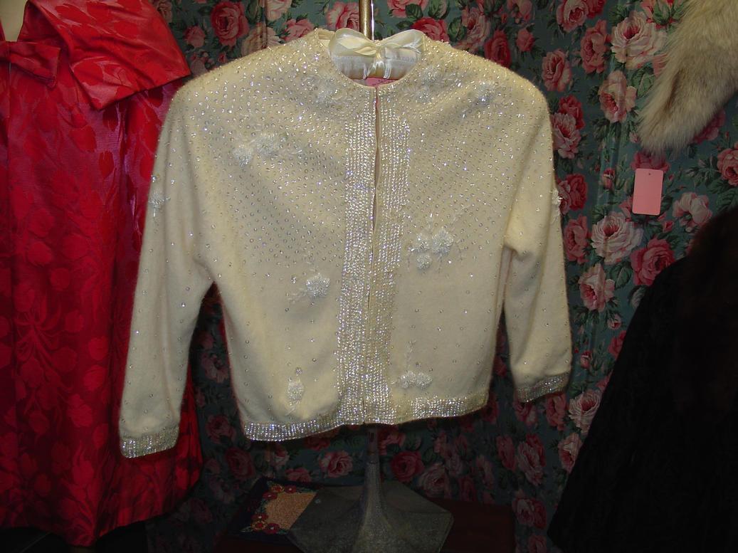 Beaded Angora Sweater