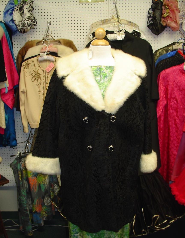 Black Broadtail & White Mink Jacket