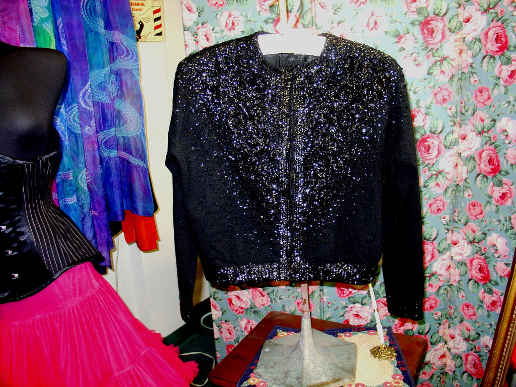 Black Sequined Cardigan