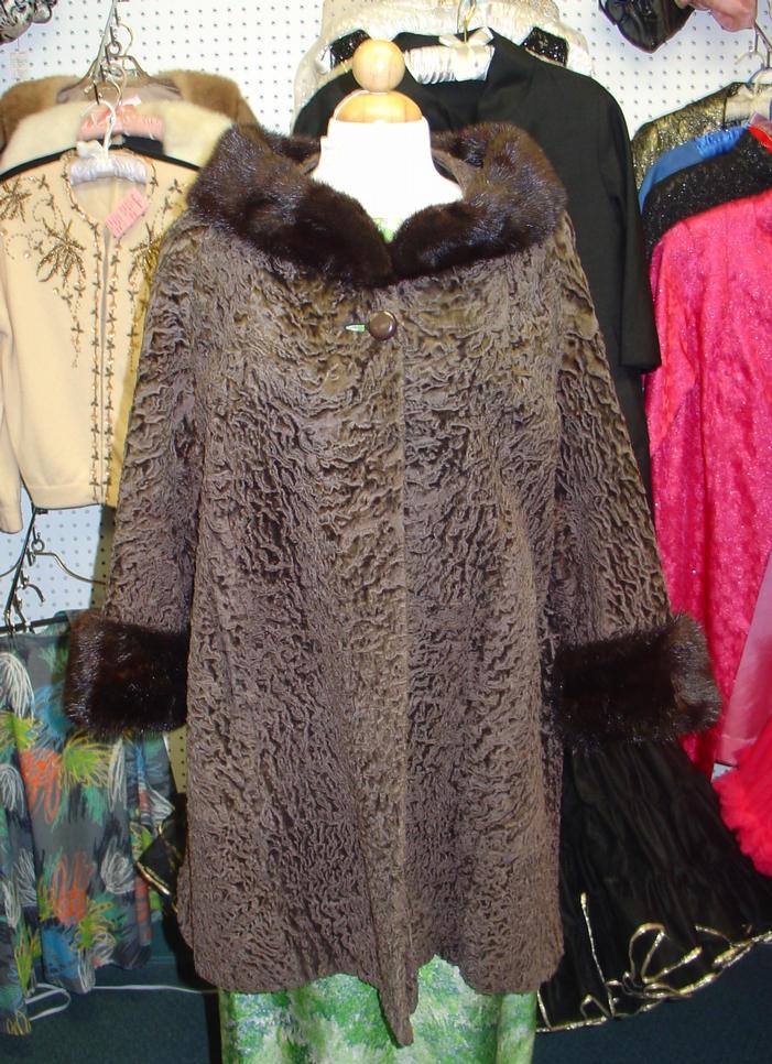 Brown Broadtail & Mink Jacket