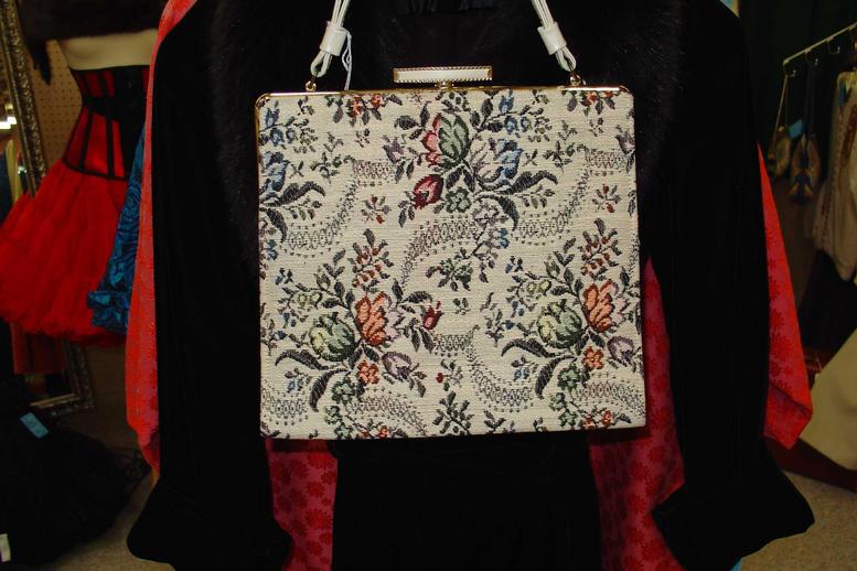 Ivory Floral tapestry handbag