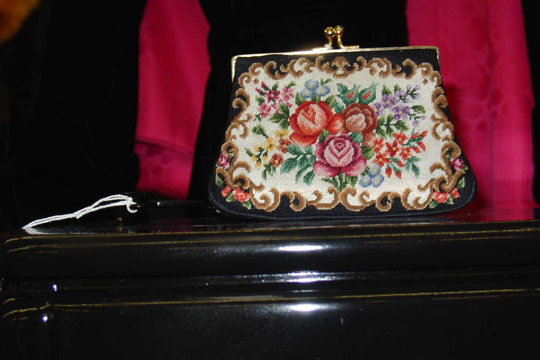 Petitpoint change purse
