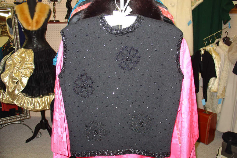 Black clover beaded sweater