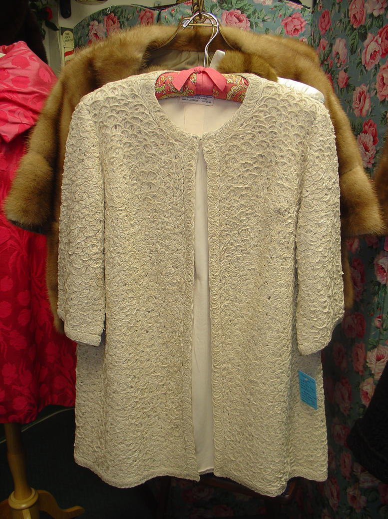 Long Ivory Ribbon Jacket
