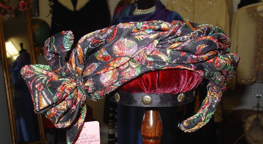 Mardis Gras Brocade Hat