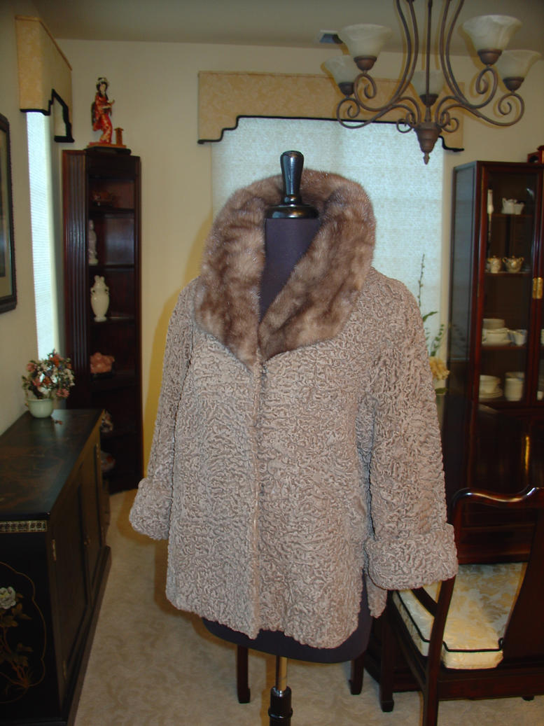 Taupe Persian Lamb Jacket