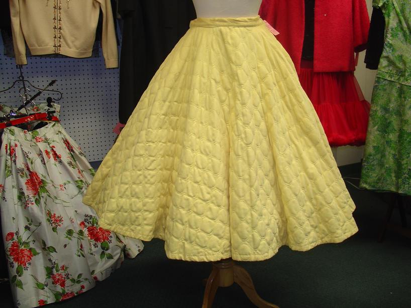 Yellow Corduroy Circle Skirt