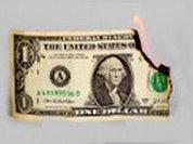 a dollar burning