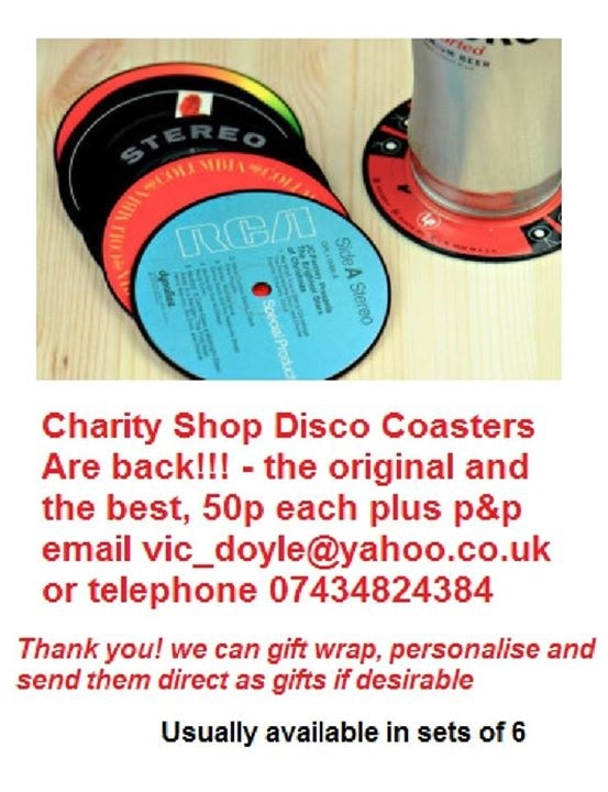 Charity Shop Disco Coasters are back!