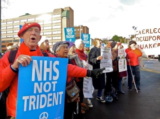 NHS not TRIDENT vigil in Newport, Wales