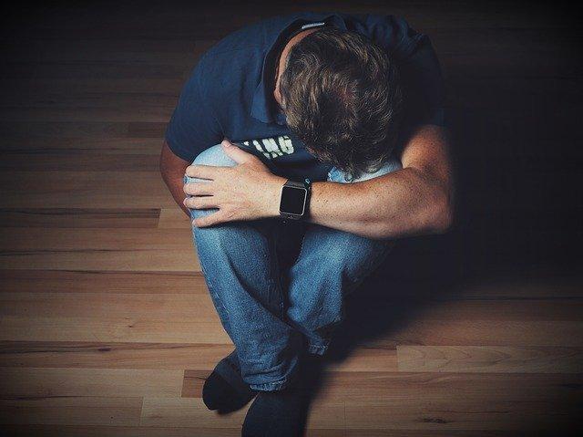 picture of depressed man
