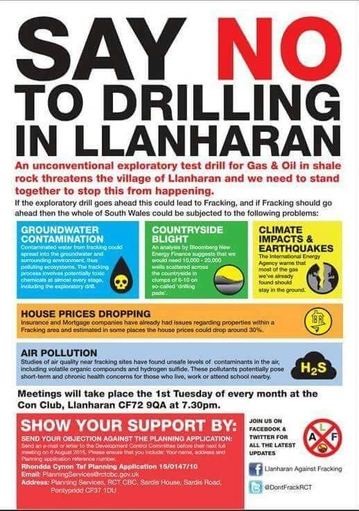 no fracking in Llanharan meeting
